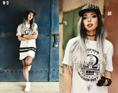scandalouslyshe.eu Check me out on lookbook: http://lookbook.nu/milenacorleone #street #city #streetwear #look #outfit #style #swag #sporty #hiphop #rapper #urban #cap #snapback #fullcap #hm #men #women #wig #lushwigs #fashionable #sexy #rocker #makeup #inspiration #model #blogger #photography #photoshoot #lookbook