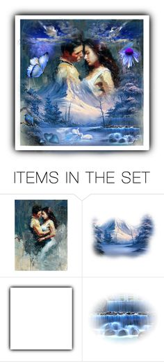 """""""Blue Dream"""" by silvijo ❤ liked on Polyvore featuring art"""