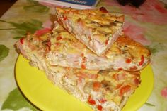 Retete Culinare - Omleta pufoasa la cuptor Romanian Food, How To Cook Eggs, Lasagna, Pizza, Baking, Breakfast, Ethnic Recipes, Cooking Eggs, Knits