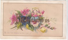 Being Enriched in Every Thing Pink Roses Victorian Religious Card C 1880s | eBay