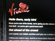 V Festival sponsored by Virgin Media. Virgin Media, Head Start, Sports And Politics, Coding, Let It Be, Programming