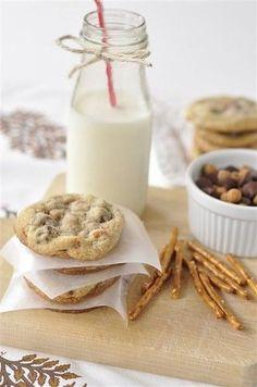 Salted Caramel Pretzel Chocolate Chip Cookies.