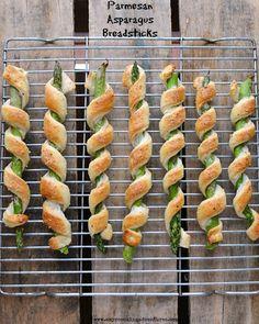 Amy's Cooking Adventures: Parmesan Asparagus Breadsticks #SecretRecipeClub