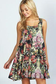 Rachel Printed Swing Dress