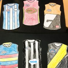 What better way to celebrate Australian Rules Football than creating your own guernsey. Then, display students creativity on a guernsey display wall? September Holidays, 26 September, Australian Football League, Montessori Playroom, Football Crafts, Aged Care, Guernsey, Toddler Crafts, Craft Activities