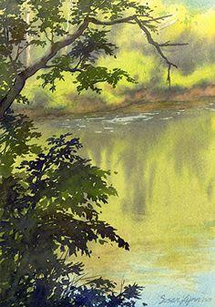 "Summer Morning by Susan Lynn Watercolor ~ 10"" x 7"""