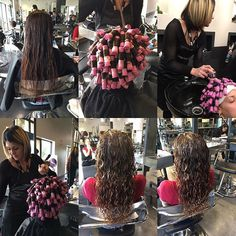spiral perm with loose curl–before and after – robert gentle - Perm Hair Styles Curly Hair Tips, Long Curly Hair, Curly Hair Styles, Loose Spiral Perm, Long Perm, Curly Perm, Wave Perm, Loose Curls, Tight Curls