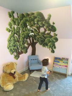Magical toddler reading corner. Tree mural by Jordan Flower, Richmond, VA https://www.etsy.com/shop/FlowerFineArt