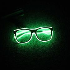 EL Wire Glow Neon Led Light Sound Control Glasses for Chrismas Xmas Party Rave