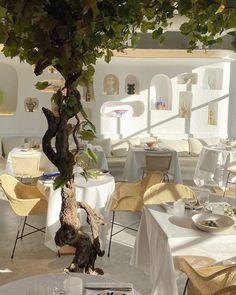 Whitewashed walls and colourful ceramics channel sunny climes inside Paris restaurant Oursin, designed by Simon Porte Jacquemus. Decor, Big Design, Handmade Furniture, White Wash, Rattan Dining Chairs, Colorful Ceramics, Interior Design, Furnishings, Restaurant Design