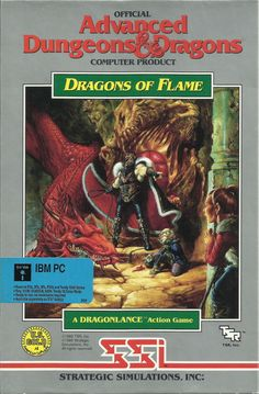 Advanced Dungeons & Dragons – Dragons of Flame Classic Video Games, Retro Video Games, Video Game Art, Retro Games, Pc Engine, Advanced Dungeons And Dragons, Game Data, Fantasy Movies, Old Games
