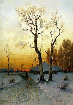 Юлий Клевер. «Оттепель». 1890 г.