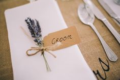 Luggage Tag Lavender Place Name Setting Beautiful Relaxed Summer Blush Wedding http://jenmarino.com/