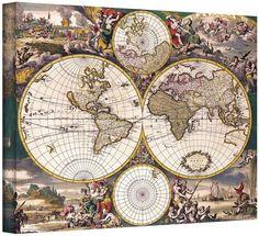 42 Best Vintage World Maps images