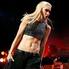 Gwen Stefani's abs crowned the most inspirational celebrity stomach. www.handbag.com