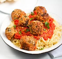 Gorgeous Spaghetti with No-Meatballs for when the craving strikes.