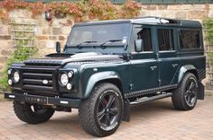 Land Rover Defender When you think life is bored.drive a Land Rover and begin to live your life. Land Rover For Sale, Land Rover Car, Land Rovers, Used Land Rover Defender, Landrover Defender, Defender 110 For Sale, Bespoke Cars, M Bmw, Offroader