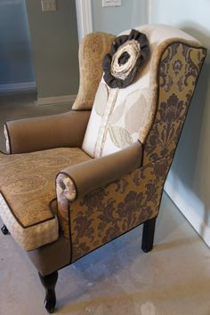 1000 Images About Upholstery Ideas For Wing Back Chair On