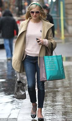 Fearne Cotton in the streets of London