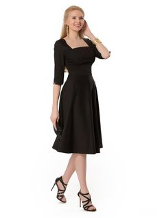 Black Satin Cocktail Dress Onice.  For any occasion. Just add accessories!