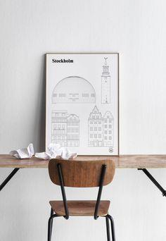 Style and Create - I love the Stockholm landmark poster by Swedish design studioStudio Esinam
