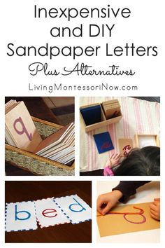 Montessori schools need to buy high-quality sandpaper letters, but you can purchase inexpensive sandpaper letters or make your own DIY sandpaper letters. Informations About Inexpensive and DIY Sandpap Montessori Classroom, Montessori Toddler, Montessori Activities, Infant Activities, Toddler Learning, Montessori Bedroom, Montessori Homeschool, Dinosaur Activities, Learning Games