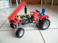 Lego Technic - Pneumatic Tractor By Nico71 - YouTube