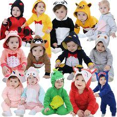 2017 New born baby rompers girls clothes new year baby Cartoon Ali Fox warm winter animal Pajamas roupas de bebe recem nascido #Affiliate