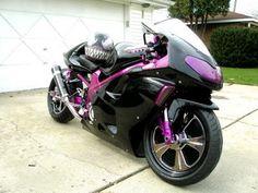 Purple & Back Motorcycle