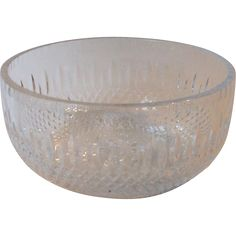 Vintage Rogaska Chamberlin Lead Crystal 6 Inch Bowl Hand Crafted Yugoslavia
