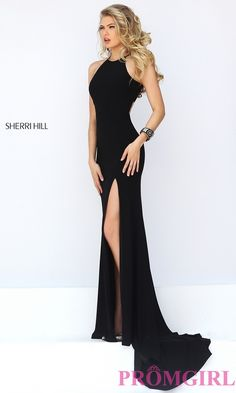 Long Open Back Sherri Hill Prom Dress-PromGirl
