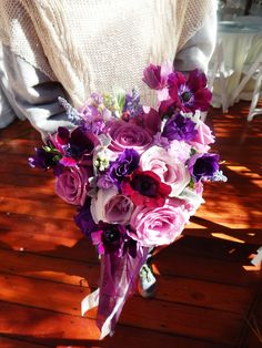 #rustic #lavender #wedding #purple #bouquets #fall #bouquets