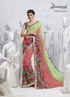 This is the masterpiece in whole catalog. The beautiful colors, endearing prints, sparkling lace & delightful blouse piece, all are amalgamating to make the Grand printed ethnic wear.