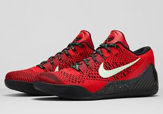 Nike Kobe 9 Elite Low University Red Release Date and Official Images University Red Black 639045 600 Nike Free Shoes, Nike Shoes Outlet, Running Shoes Nike, Kobe Shoes, Men's Shoes, New Sneakers, Sneakers Nike, Baskets, Kobe 9