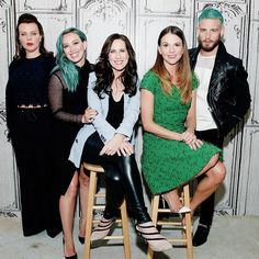 The crew of YoungerTV: Debi Mazar, Hilary Duff, Miriam Shor, Sutton Foster and Nico Tortorella. Watch them in the latest episode of YoungerTV on TV Land at http://www.tvland.com/shows/younger.