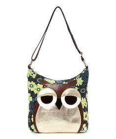 Look what I found on #zulily! Aqua Owl Crossbody Bag #zulilyfinds