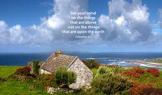 Small stone cottage on the west coast of Ireland.