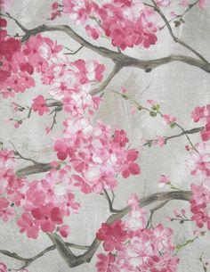 Sakura Baskılı Kumaş