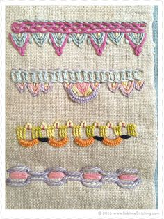 Sublime Stitching - Hand Embroidery Stitches Samplers