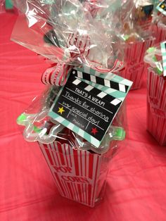 Movie theme party favours