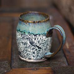 Pottery Mugs, Ceramic Pottery, Slab Pottery, Thrown Pottery, Ceramic Mugs, Ceramic Art, Ceramic Bowls, Stoneware, Coffee Love