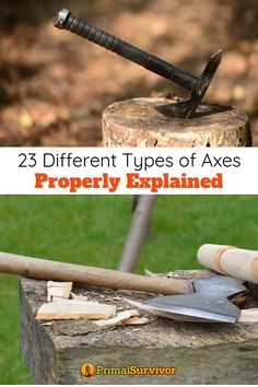 An axe is an axe right? Well, not quite. We're going to take a look at some of the common ones you're likely to encounter, and a we'll snag a gander at a few examples you'll likely never encountered. Survival Tools, Wilderness Survival, Camping Survival, Outdoor Survival, Survival Prepping, Emergency Preparedness, Emergency Kits, Survival Hacks, Splitting Wood