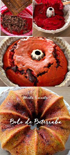 Bolo de Beterraba Você pode até achar estranho, e me perguntar, mas beterraba no bolo? E eu te respondo, se todo mundo de gosta de bolo de cenoura...então!!