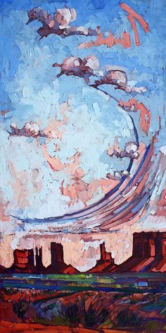 Utah Sky Painting - Erin Hanson