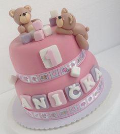 Teddy bear first birthday cake First Birthday Cakes, Cake Pops, Macarons, First Birthdays, Cheesecake, Cupcakes, Desserts, Food, Teddy Bear