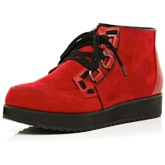 River Island Red Creeper Boots ($61) ❤ liked on Polyvore