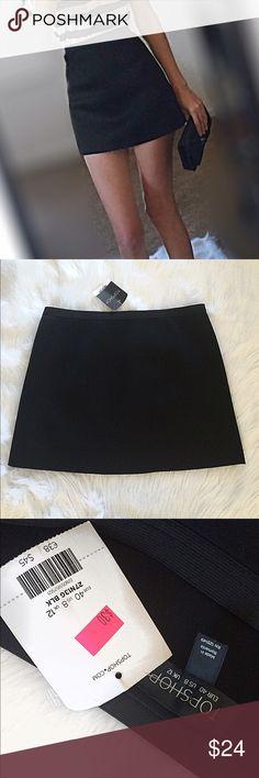 NWT TOPSHOP black mini skirt New with tags super sexy black topshop black skirt size 8. Topshop Skirts Mini