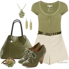 Olive & Cream, created by sassafrasgal on Polyvore