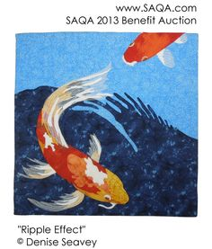 SAQA Benefit  Auction 2013 ripple effect denise seavey