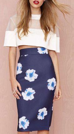 Instant Karma Neoprene Midi Skirt